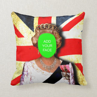 "Fun custom ""Treat mum like a Queen"" punk portrait… Pillow"
