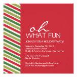 Fun Customizable Christmas Party Invitation