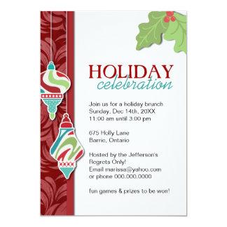 Fun Customizable Holiday Party Invitation