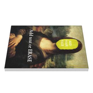 "Fun customizable Leonardo Da Vinci ""Mona Lisa""… Canvas Print"