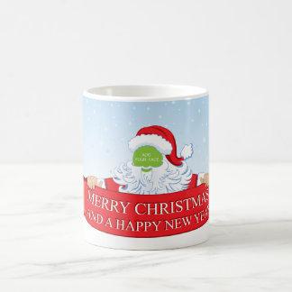 Fun customizable Santa Claus Christmas greeting… Coffee Mug