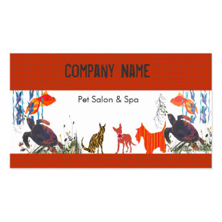 Fun Cute Animals Pet Care Double-Sided Standard Business Cards (Pack Of 100)