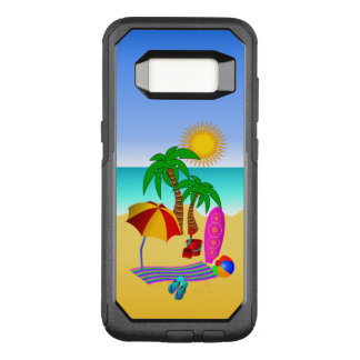 Fun Cute Beach Bum or Bunny Sun Sea and Surf OtterBox Commuter Samsung Galaxy S8 Case