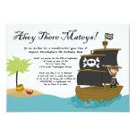 Fun cute boy's pirate birthday party invitation