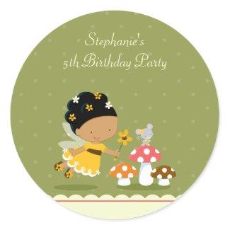 Fun cute fairy girl's birthday party stickers sticker