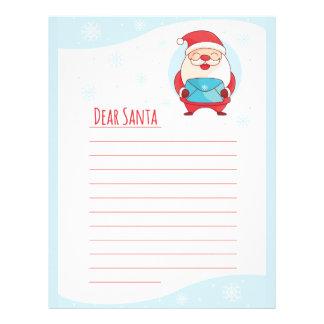 Fun Cute Letter to Dear Santa Claus lined template Letterhead