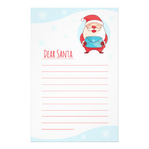 Official Personal Letter From Santa Template on north pole, writing paper, for office party,