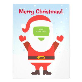 Fun cute Santa Claus custom Christmas greeting… Magnetic Card