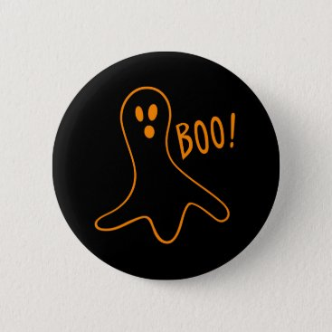 Halloween Themed Fun Cute Scary Halloween Ghost Round Pin Button
