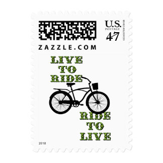 Fun cycling design postage