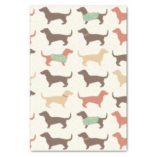 """Fun Dachshund Dog Pattern 15"""" X 20"""" Tissue Paper"""