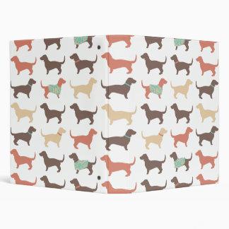 Fun Dachshund Dog Pattern Binder