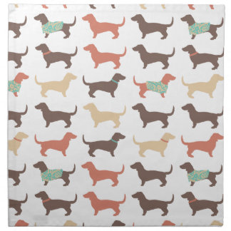 Fun Dachshund Dog Pattern Cloth Napkin