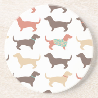 Fun Dachshund Dog Pattern Coasters