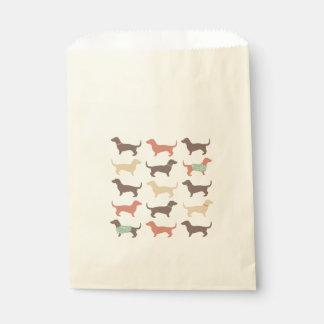 Fun Dachshund Dog Pattern Favor Bag