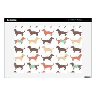 Fun Dachshund Dog Pattern Laptop Decal