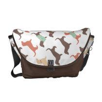 Fun Dachshund Dog Pattern Messenger Bag