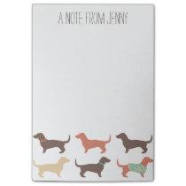 Fun Dachshund Dog Pattern Post-it Notes