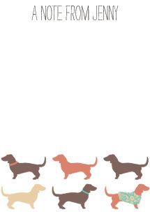 dachshund post it notes zazzle