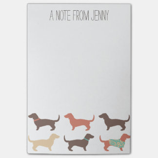 Fun Dachshund Dog Pattern Post-it Notes