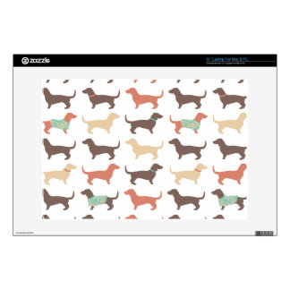 "Fun Dachshund Dog Pattern Skin For 13"" Laptop"