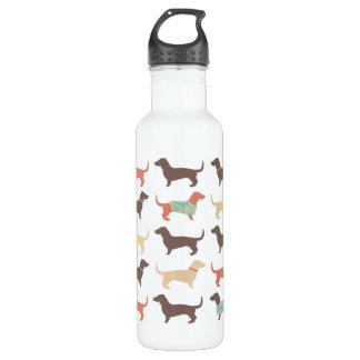 Fun Dachshund Dog Pattern Stainless Steel Water Bottle