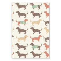 Fun Dachshund Dog Pattern Tissue Paper