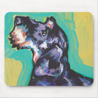 Fun DACHSHUND doxie dog bright colorful Pop Art Mouse Pad
