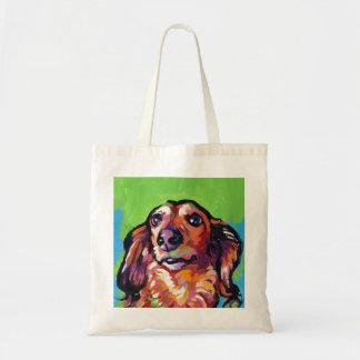 Fun DACHSHUND doxie dog bright colorful Pop Art Tote Bag
