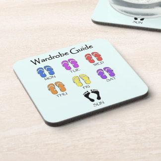 Fun Daily Flip Flops Guide Coasters