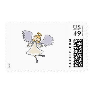 Fun Dancing Angel Cartoon Postage