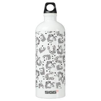 Fun Dancing Pandas Pattern Aluminum Water Bottle