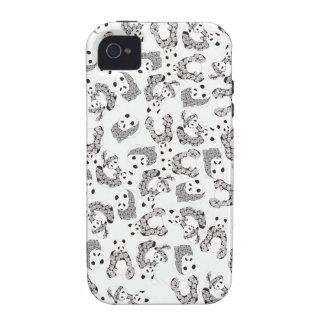 Fun Dancing Pandas Pattern iPhone 4/4S Cover