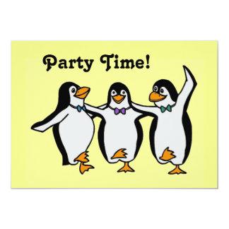Fun Dancing Penguins Party Time! Card