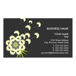 Fun Dandelion Floral Business Cards