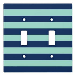 Fun Dark Blue and Seafoam Green Stripes
