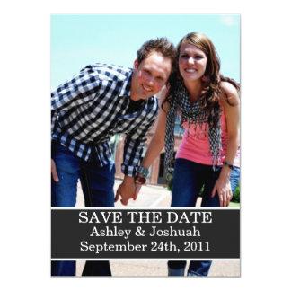 Fun Dark Gray Design Save The Date Invites