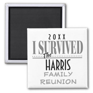 Fun Dated Family Reunion Souvenir Gift Magnet