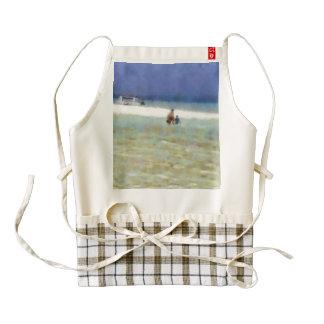 Fun day at the beach zazzle HEART apron