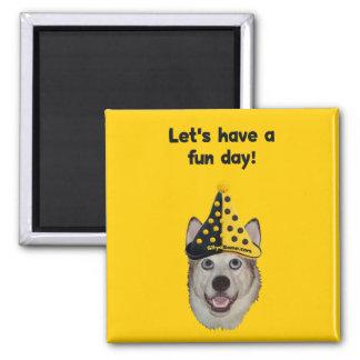 Fun Day Clown Dog Fridge Magnets