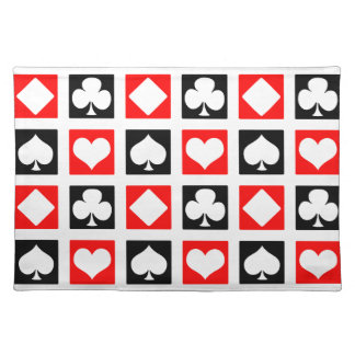 Fun Deck of Cards Cloth Placemat