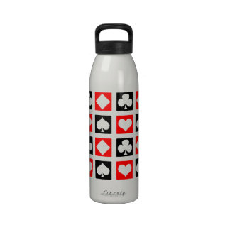 Fun Deck of Cards Drinking Bottle