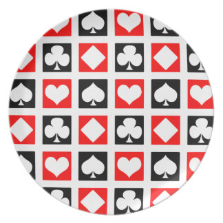 Fun Deck of Cards Melamine Plate