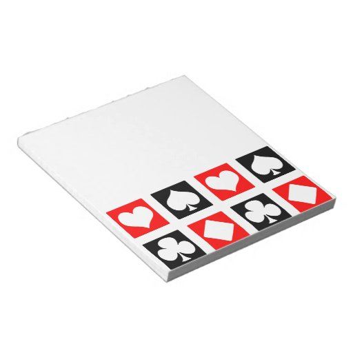 Fun Deck of Cards Notepads