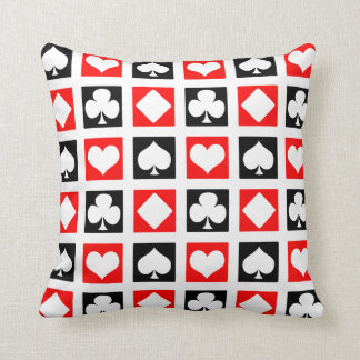 Fun Deck of Cards Throw Pillow