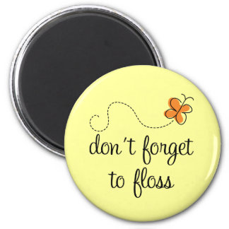 Fun Dental Don't Forget To Floss Dentist Gift Refrigerator Magnets