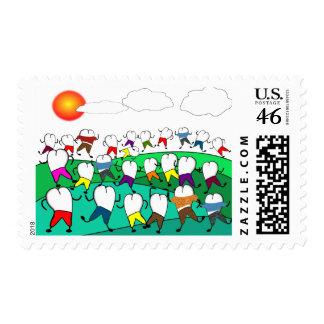 Fun Dentist Postage Stamps Teeth People
