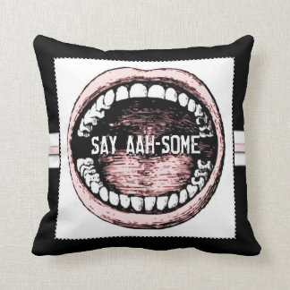 Fun Dentist Throw Pillow
