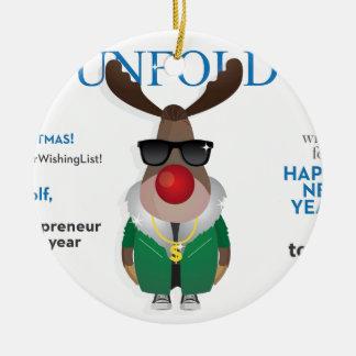 Fun Design Ceramic Ornament