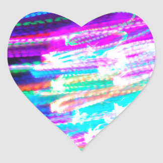 Fun design with vibrant colorful streaks of ligh heart sticker